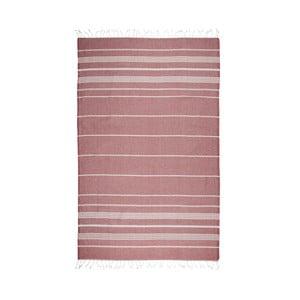 Ciemnoczerwony ręcznik hammam Kate Louise Classic, 180x100 cm