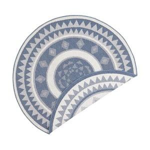 Niebiesko-kremowy dywan dwustronny odpowiedni na zewnątrz Bougari Jamaica, ⌀ 140 cm