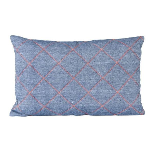 Niebieska poduszka ETH Grid, 50x30cm