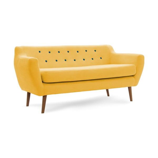 Sofa trzyosobowa VIVONITA Kelly Lincoln, żółta