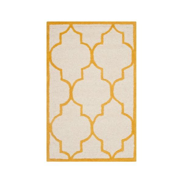 Dywan wełniany Everly 91x152 cm, pomarańczowy