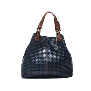 Skórzana torebka Isabella Rhea 858 Blu