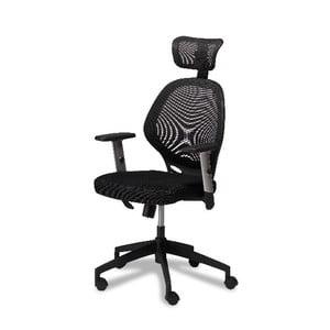 Czarny fotel biurowy Furnhouse Maze