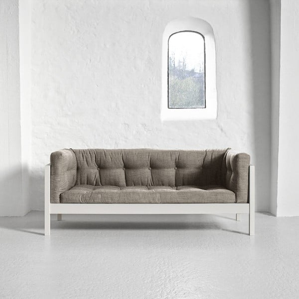 Sofa 2-osobowa Karup Fusion White/Linoso Light Gray