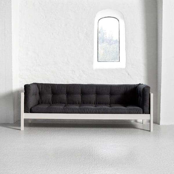 Sofa trzyosobowa Karup Fusion White/Linoso Dark Gray