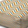 Puf Margao Geometric Orange