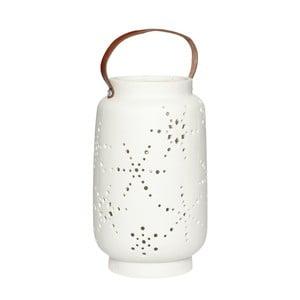 Biały lampion porcelanowy Hübsch Deb