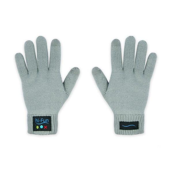 Męskie rękawiczki z zestawem słuchawkowym Hi-Call Headset, szare