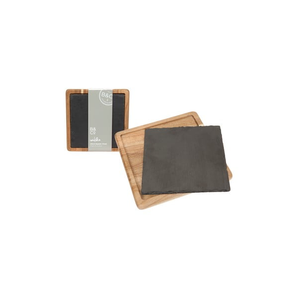 Łupkowa deska do serwowania Trivet, 20x20 cm