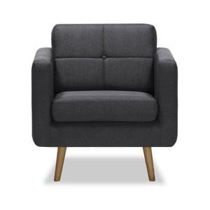 Ciemnoszary fotel Vivonita Magnus