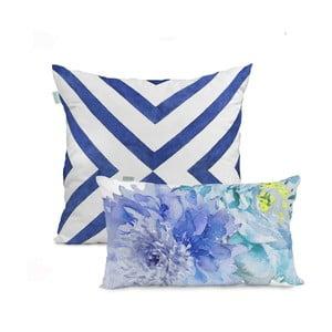 Zestaw 2 bawełnianych poszewek na poduszki HF Living Blue Dream