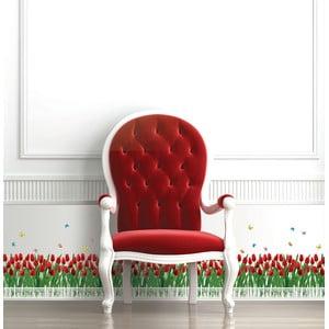 Naklejka Ambiance Tulips Fence