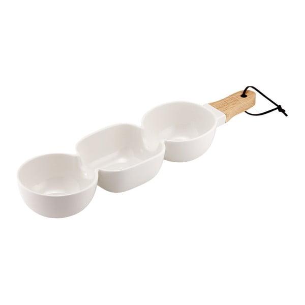 Biała potrójna miseczka do serwowania Ladelle Classic