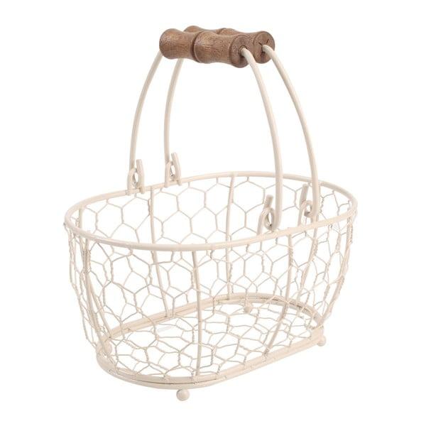 Biały koszyk metalowy T&G Woodware   Provance,20x14cm