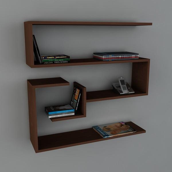 Półka Confier Book Wenge, 22x90x87 cm