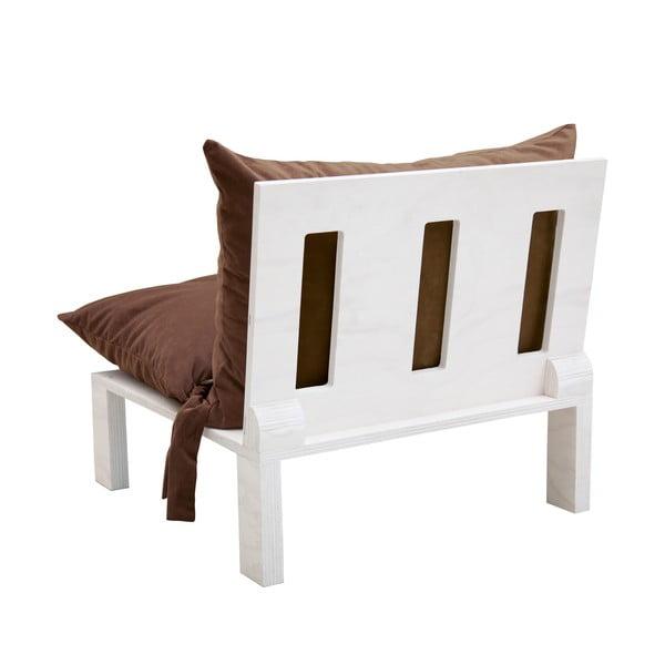 Fotel z poduszkowym oparciem Tanzania Brown