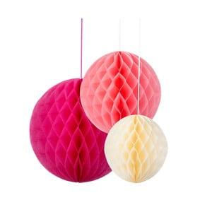 Dekoracje papierowe Honeycomb Blossom, 3 szt.