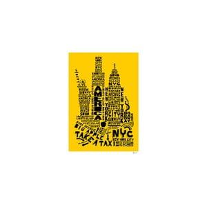 Plakat New York Yellow&Black, 50x70 cm