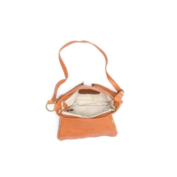 Skórzana torebka Carla Ferreri 2113 Cognac