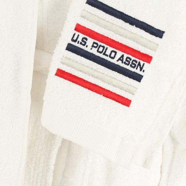 Komplet szlafroka damskiego i 2 ręczników U.S. Polo Assn. Lutsen White,  XL