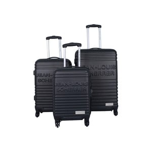Zestaw 3 walizek Jean Louis Scherrer Trolley Black