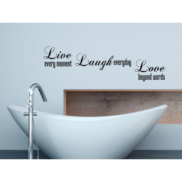 Naklejka dekoracyjna Live Laugh Love