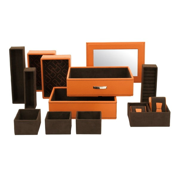 Szkatułka na biżuterię Classic Orange, 21x15x19 cm
