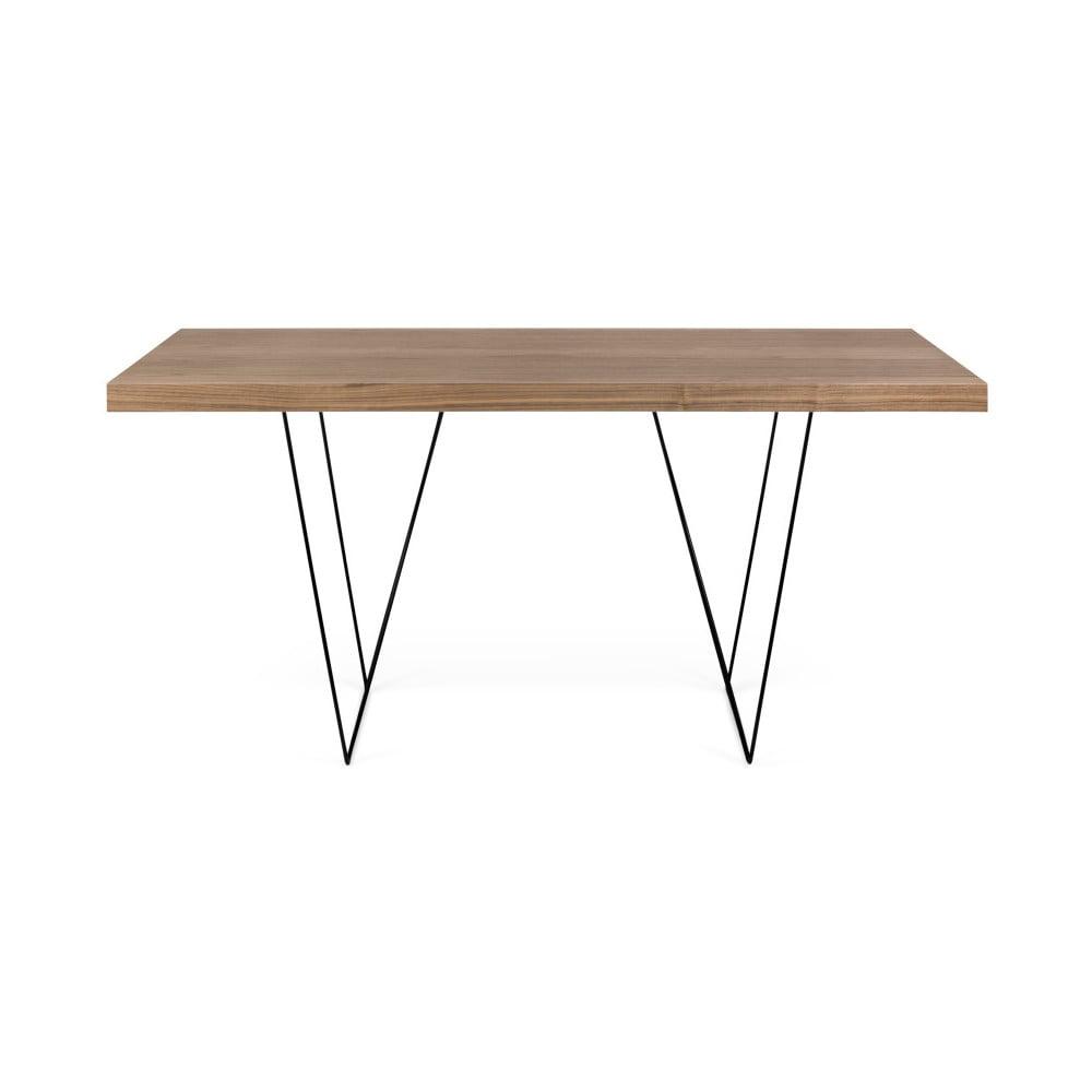 Stół z blatem z dekorem drewna i metalowymi nogami TemaHome Trestle, 90x160cm