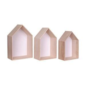 Zestaw 3 białych półek drewnianych House Nordic Verona