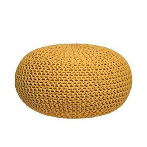 Żółty puf dziergany LABEL51 Knitted, XL