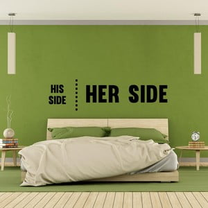 Naklejka ścienna His Side Her Side
