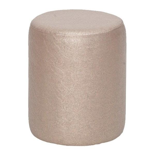 Okrągły puf Rodhio, metaliczny