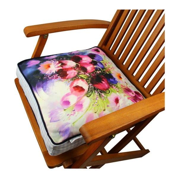 Poduszka na krzesło z wypełnieniem Gravel Arli, 42x42 cm