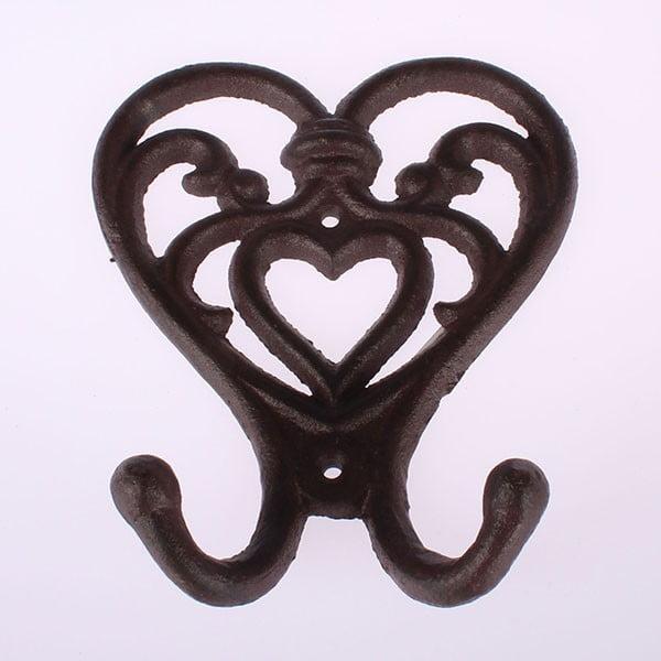 Żeliwny wieszak Brown Heart