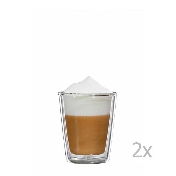 Zestaw 2   szklanych kubków na cappuccino bloomix Milano