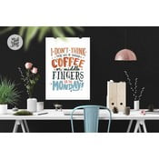 Plakat Monday Coffee & Middle Fingers, A2