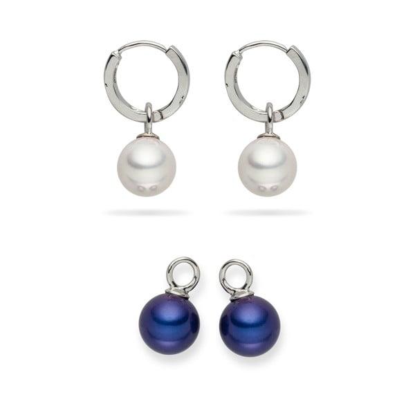 Komplet kolczyków perłowych Nova Pearls Copenhagen Catherine