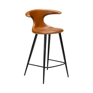 Koňakově hnědá barová židle z eko kůže DAN–FORM Denmark Flair