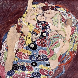Reprodukcja obrazu Gustava Klimta - Virgins, 50x50 cm