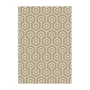 Winylowy dywan Hexagonos Beige, 70x100 cm
