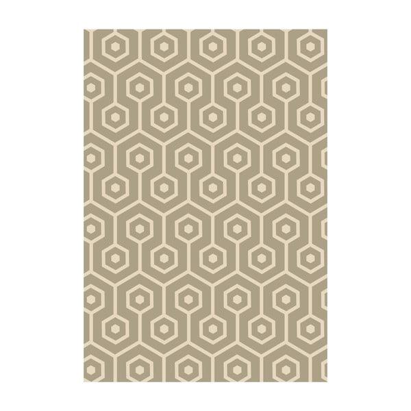 Winylowy dywan Hexagonos Beige, 99x120 cm
