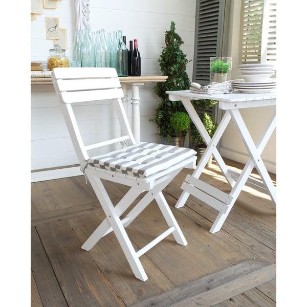 Krzesło z poduszką Folding White