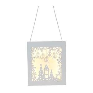 Wisząca dekoracja świecąca Best Season Frame Snowflake