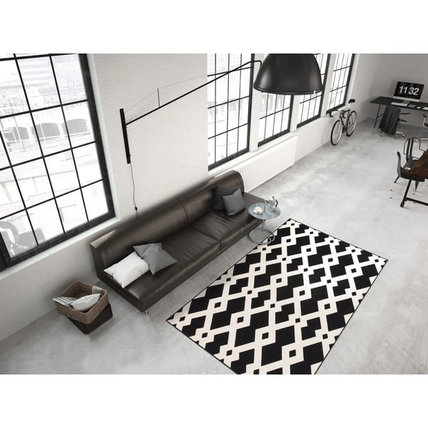 Czarny dywan Kayoom Stella 100, 80x150 cm