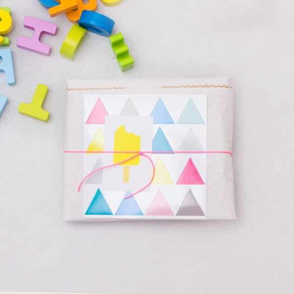 Papierowy kosz Happy Dreiecke DIY