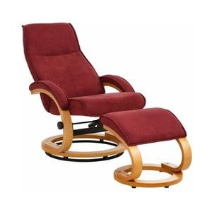 Czerwony fotel regulowany z podnóżkiem Støraa Rika