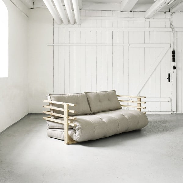 Rozkładana sofa 2-osobowa Karup Funk Natural/Natural