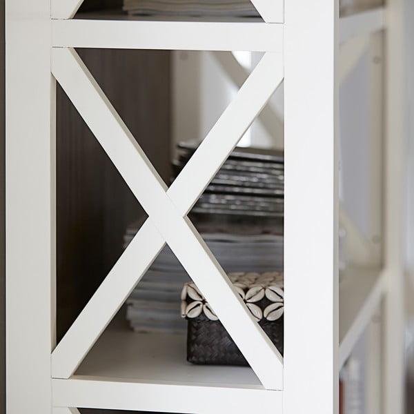 Biała witryna Canett Skagen Cabinet, 2 szuflady