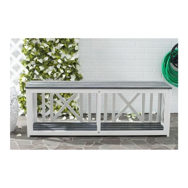 Biało-szara ławka ogrodowa Safavieh Branco Grey
