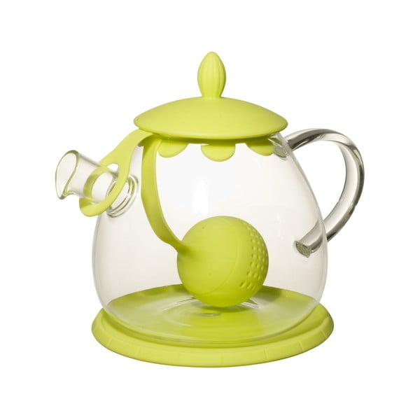 Dzbanek do herbaty, z sitkiem, Ramponi Green